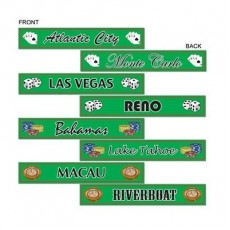 Casino Night Gambling Destination Street Signs Cutouts