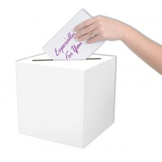 White All Purpose Receiving Card Box Misc Accessorie