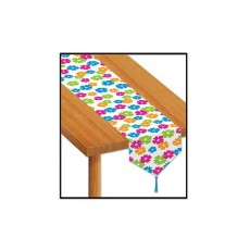 Hawaiian Luau Hibiscus Flowers Table Runner