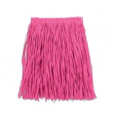 Hawaiian Pink Hula Mini Skirt Adult Costume