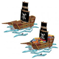 Pirate's Treasure Pirate Ship Centrepiece