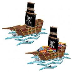 Pirate Ship Centrepiece 47cm x 64cm