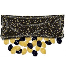 New Year Black & Gold Balloon Release Drop Bag Balloon Net