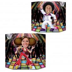 Disco & 70's Disco Couple Dancers Photo Prop 94cm x 64cm