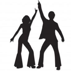 Disco & 70's Disco Dancers Silhouette Cutouts