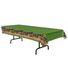 Horse Racing Plastic Table Cover