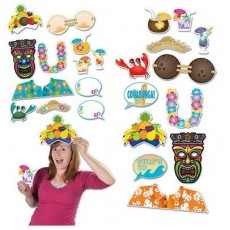 Hawaiian Luau Fun Signs Booth Photo Props