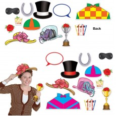 Horse Racing Booth Fun Signs Photo Props Pack of 12