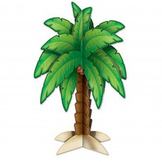 Hawaiian Party Decorations 3D Palm Tree Centrepieces