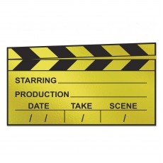 Hollywood Black & Gold Awards Night Clapboard Cutout