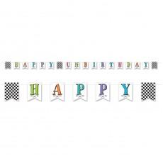 Happy Birthday Alice in Wonderland Pennant Banner