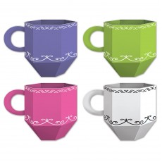 Multi Colour ed Tea Cup Centrepieces or Favour Boxes