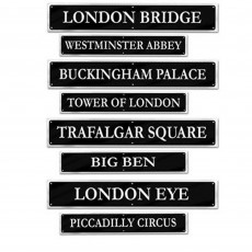 British Party Decorations - Cutouts Street Signs