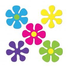 Feeling Groovy & 60's Retro 60s Mini Flowers Cutouts 11cm Pack of 10