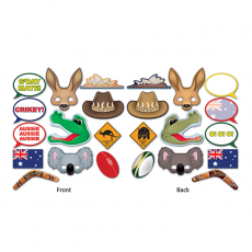 Australia Day Australian Fun Signs Photo Props Pack of 12