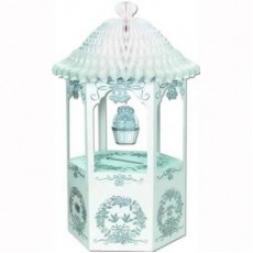Wedding Wishing Well Card Gift Box & Honeycomb Canopy Misc Accessorie