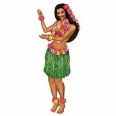 Hawaiian Luau Hula Girl Jointed Cardboard Misc Decoration