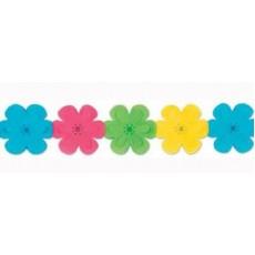 Multi Coloured Flower Garland 17cm x 3.65m