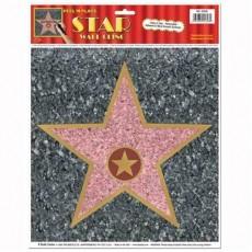 Hollywood Awards Night 'Walk of Fame' Star Peel N Place Sticker 30cm x 38cm