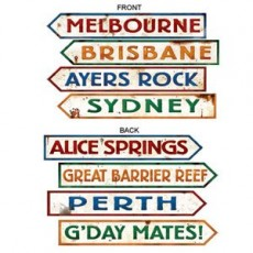 Australia Day Street Signs Cutouts