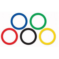 Multi Coloured Sports Party Rings Cutouts Pack of 15