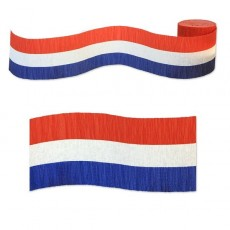 USA Red, White & Blue Paper Crepe Streamer