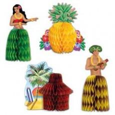Hawaiian Luau Mini Honeycomb Centrepieces