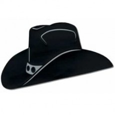 Cowboy & Western Black Silhouette Cowboy Hat Cutout