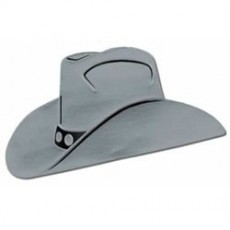 Cowboy & Western Silver Silhouette Cowboy Hat Cutout