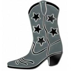 Cowboy & Western Silver Silhouette Cowboy Boot Cutout