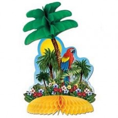 Hawaiian Tropical Island Honeycomb Centrepiece