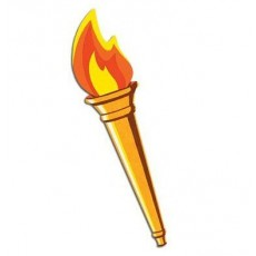Gold Sports Torch Cutout
