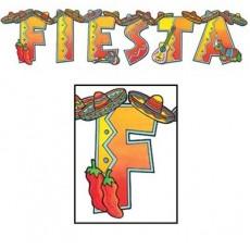 Mexican Fiesta Jointed Streamer FIESTA Banner 20cm x 89cm