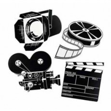 Hollywood Awards Night Movie Set Cutouts 33cm to 43cm Pack of 4