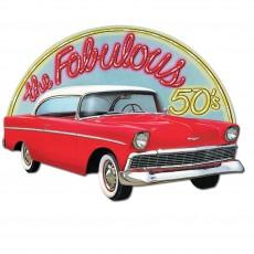Rock n Roll 50's Classic Car Cutout