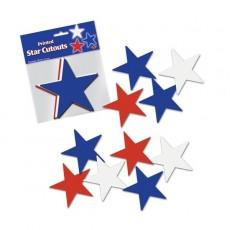 USA Red, White & Blue Star Cutouts