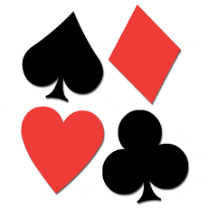 Casino Night Playing Card Suits Cutouts