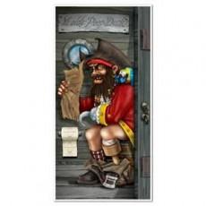 Pirate Restroom Toilet Door Decoration 76cm x 152cm