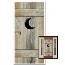 Cowboy & Western Outhouse Cover Door Decoration 76cm x 152cm