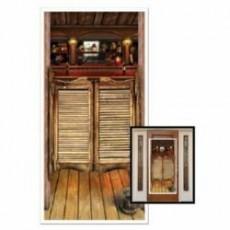 Cowboy & Western Saloon Cover Door Decoration 76cm x 152cm