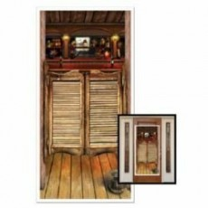 Cowboy & Western Saloon Cover Door Decoration