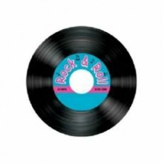 Rock n Roll Record Drink Coasters