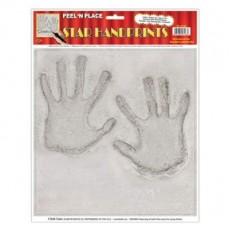 Hollywood Awards Night Handprints Peel N Place Sticker