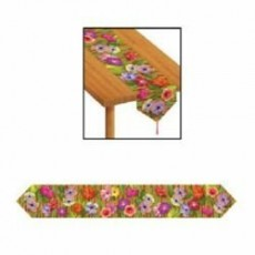 Hawaiian Party Decorations Flowers & Bamboo Table Runners