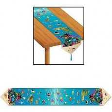 Hawaiian Luau Under the Sea Table Runner