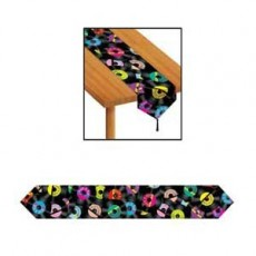 Rock n Roll Records Table Runner