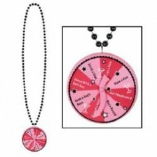 Bachelorette Beaded Spinner Medallion Necklace Jewellery