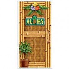 Hawaiian Luau Aloha Bamboo Door Decoration