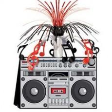 Disco & 70's Boom Box Stereo Cascade Centrepiece 35cm