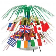 International Party Decorations - Cutout Mini Flags